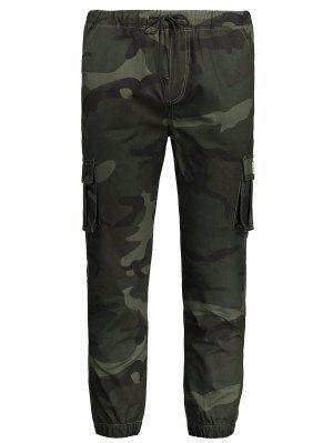 Drawstring Camouflage Jogger Pants