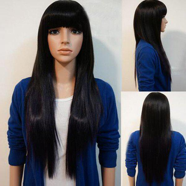 Neat Bang Long Straight Synthetic Wig 223267601