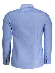 Mens Button Up Shirt LIGHT BLUE: Shirts 2XL | ZAFUL