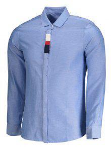 Mens Button Up Shirt LIGHT BLUE: Shirts 3XL | ZAFUL