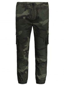 Drawstring Camouflage Jogger Pants - Army Green Xl