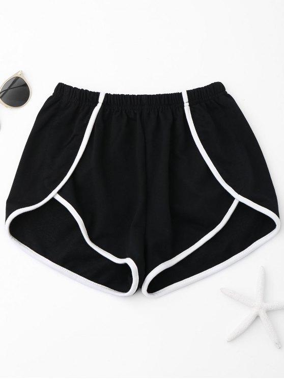 Pantalones cortos de contraste - Negro XL