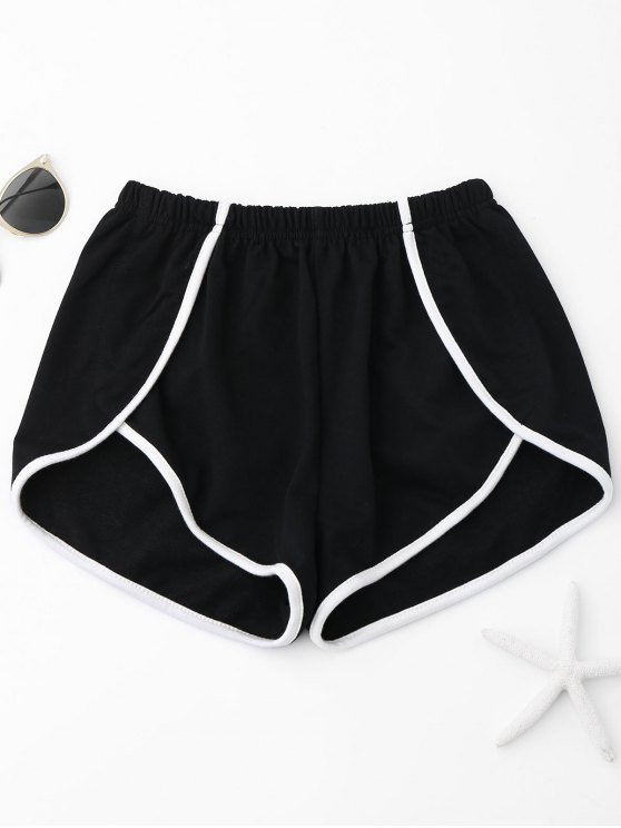 shops Contrast Trim Track Shorts - BLACK M