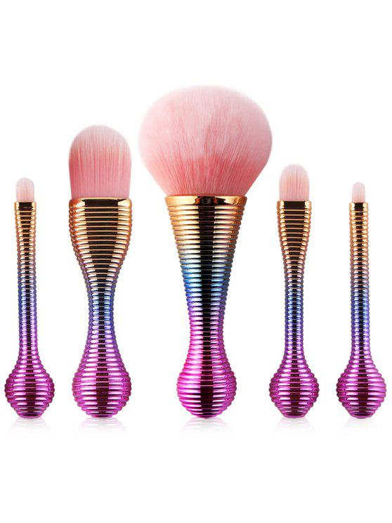 5Pcs Steigung Farbe Lutscher Design Make-up Pinsel Satz - multifarbe