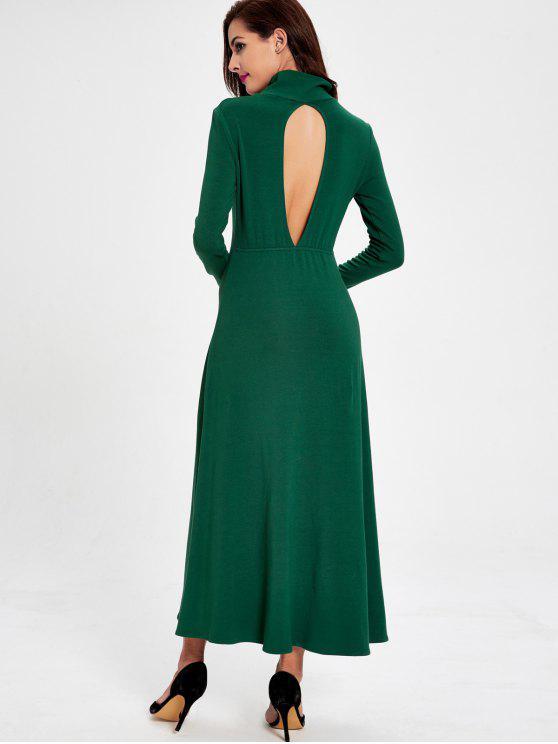 e7e3c26b37f4e فستان طويلة الأكمام قطع ماكسي - أخضر M