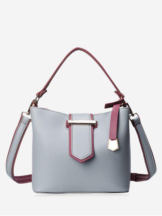حقيبة توتس معدنية مطرزة كتلة اللون - رمادي