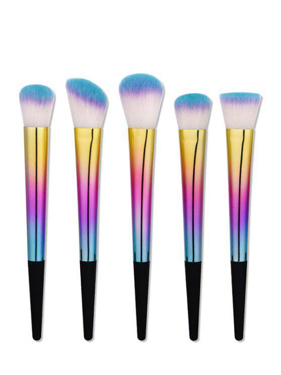 Ensemble de Pinceaux à Maquillage avec Manches de Forme Conique et Brillante - Multicolore