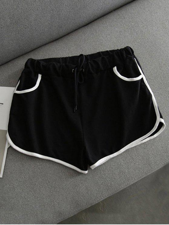 Pantalones cortos de contraste Dolphin - Negro Única Talla