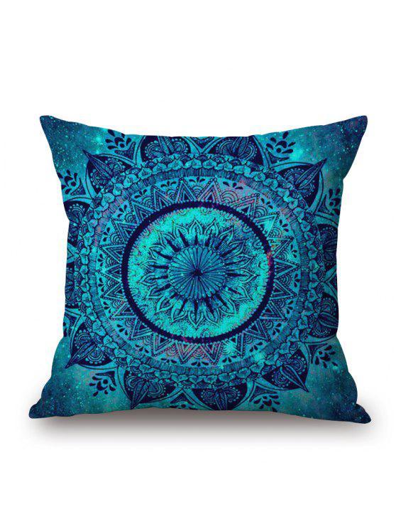 ماندالا نمط الكتان أريكة وسادة - أزرق W18 بوصة * L18 بوصة