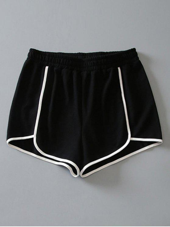 affordable Cotton Dolphin Shorts - BLACK M