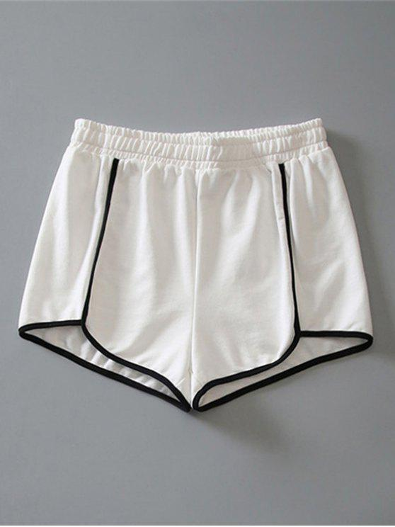 womens Cotton Dolphin Shorts - WHITE L