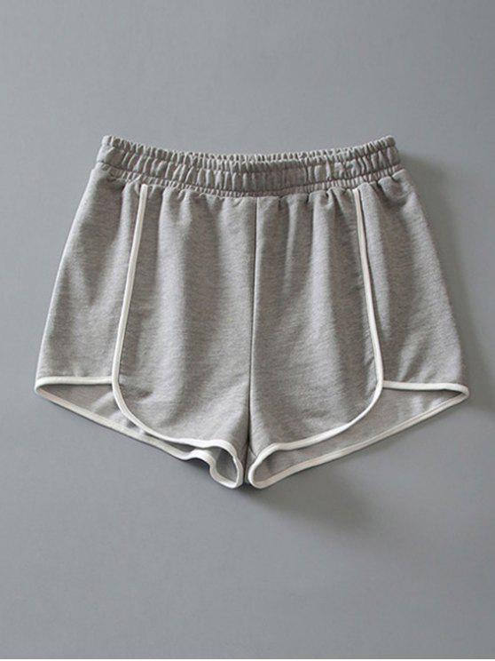Delphin-Shorts aus Baumwoll - Hellgrau M