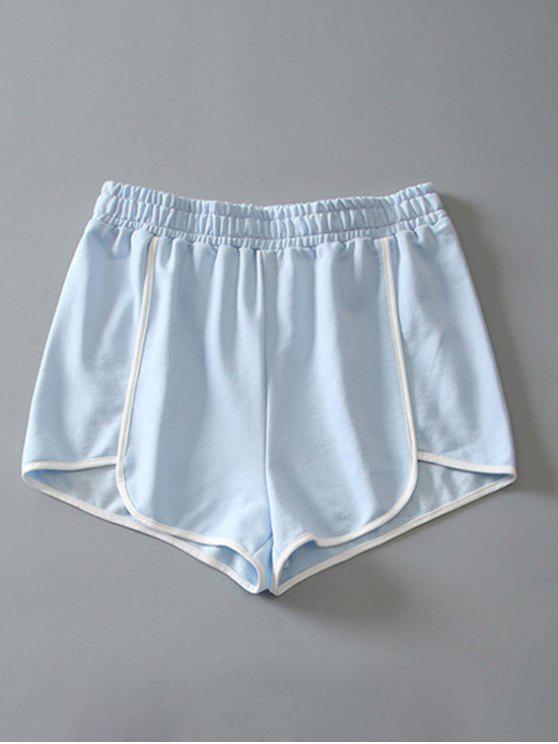 Delphin-Shorts aus Baumwoll - Hellblau L