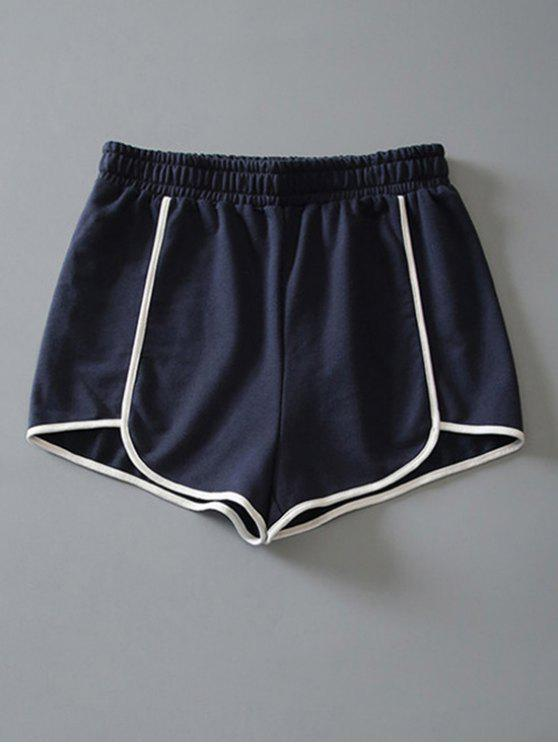 trendy Cotton Dolphin Shorts - CADETBLUE S
