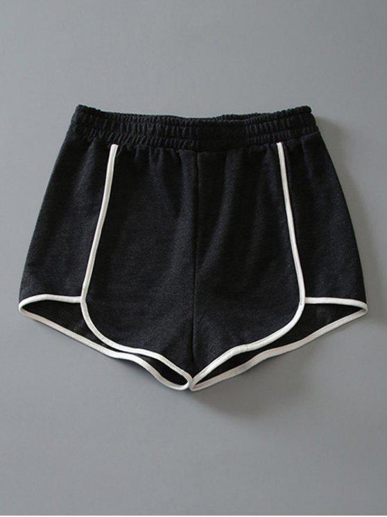 fancy Cotton Dolphin Shorts - DARK GREY S