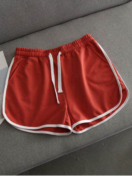 Laufen Shorts mit Kontraster Trimmung - Roter Zirkon L