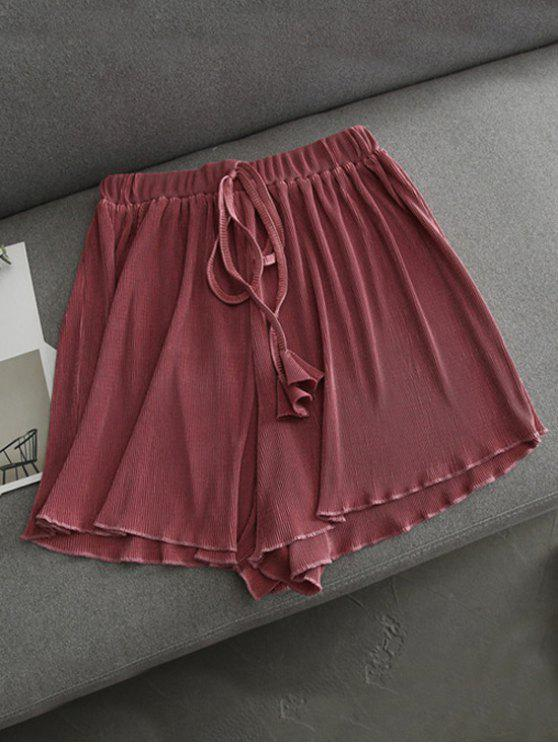 unique Pleated Cover-Up Shorts - RUSSET-RED ONE SIZE