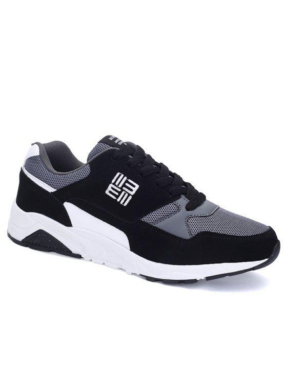 حذاء رياضي شبكي كتلة اللون - أسود 43