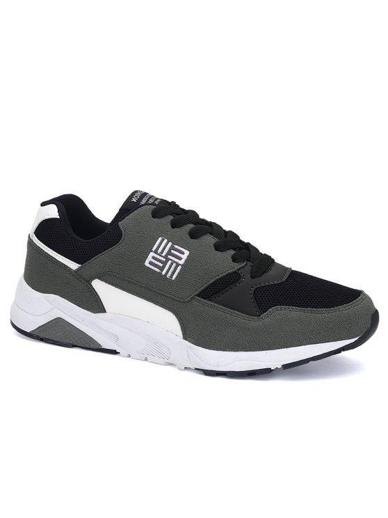 حذاء رياضي شبكي كتلة اللون - رمادي 42