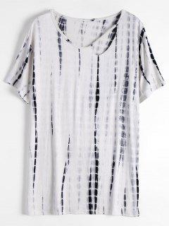 Tissu à Teinture à Cravate à épaulettes Découpées - Blanc