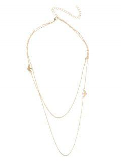 Charm Peace Dove Chain Layered Necklace - Golden