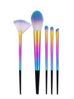 Tapered Ombre Handle Makeup Brushes Set