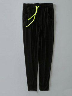 Contrast Drawstring Sweatpants - Black M