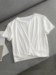 Twist Cropped T-shirt - White L