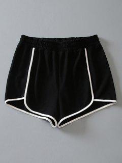 Short De Doigt En Coton - Noir L