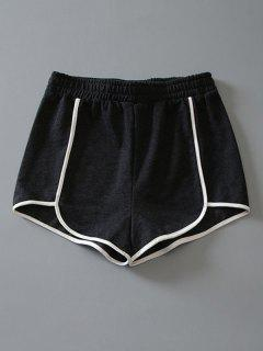 Cotton Dolphin Shorts - Dark Grey S