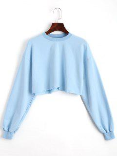 Sporty Cropped Sweatshirt - Sky Blue