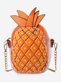 Chain Pineapple Shape Crossbody Bag - Orange