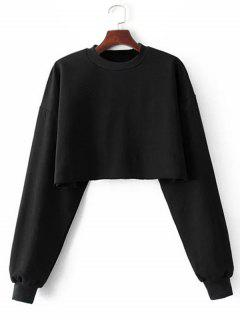Sporty Cropped Sweatshirt - Black