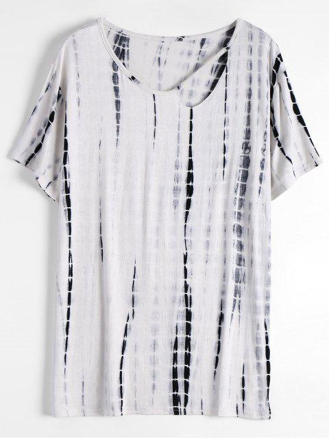 T-shirt Teinté avec Découpe au Col - Blanc Taille Unique Mobile