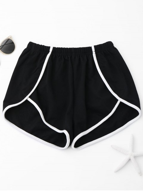 outfits Contrast Trim Track Shorts - BLACK XL Mobile