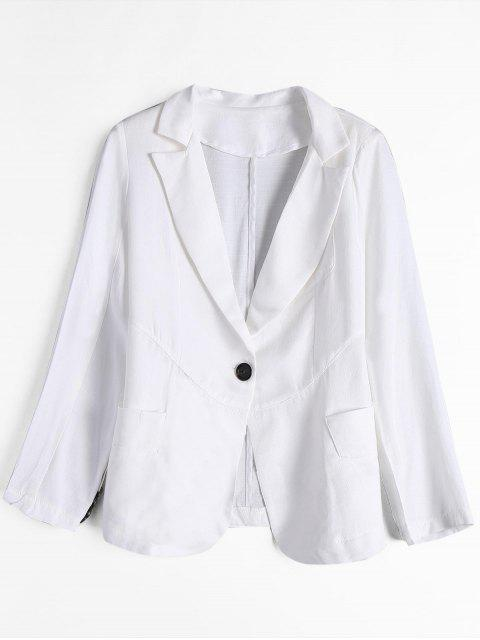 ladies One Button Blazer with Pockets - WHITE XL Mobile