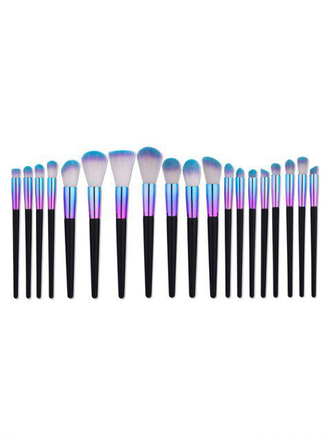 Ensemble de brosses de maquillage en tube d'aluminium à poignée conique - Multicolore  Mobile