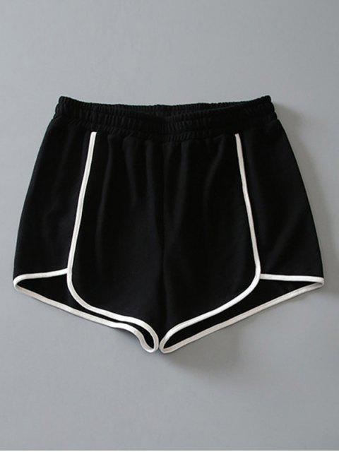 Pantalones cortos de algodón - Negro S Mobile