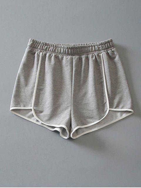ladies Cotton Dolphin Shorts - LIGHT GRAY L Mobile