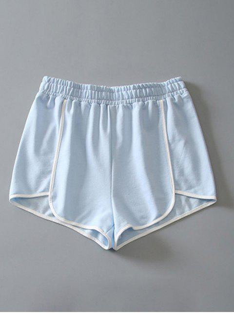 shop Cotton Dolphin Shorts - LIGHT BLUE S Mobile