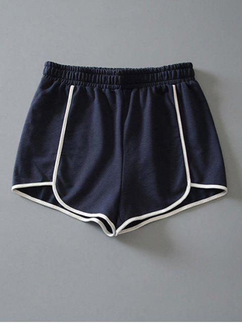 latest Cotton Dolphin Shorts - CADETBLUE M Mobile