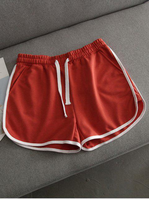 lady Contrast Trim Running Shorts - JACINTH L Mobile