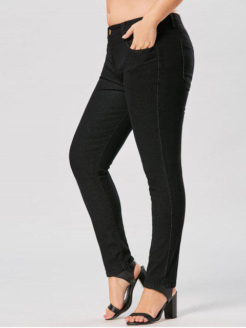 outfits Plus Size Skinny Stretch Jeans - BLACK 3XL Mobile