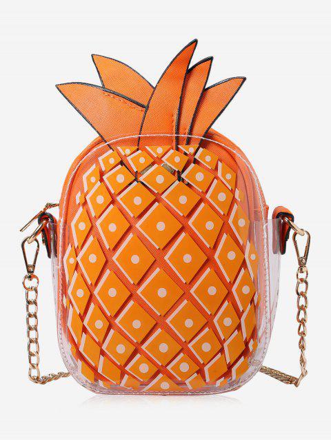Bolso de Crossbody de la forma de la piña de cadena - Naranja  Mobile
