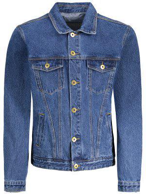 Button Down Pockets Denim Jacket