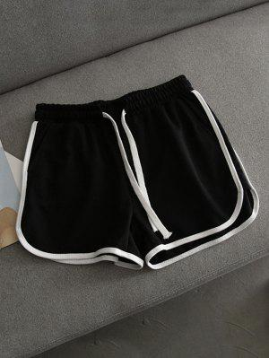 Contrast Trim Running Shorts