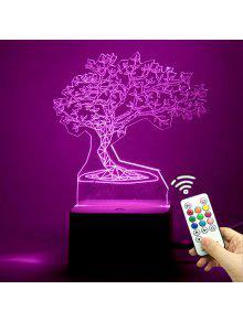 3d شجرة شكل تغيير لون التحكم عن بعد ضوء الليل - شفاف