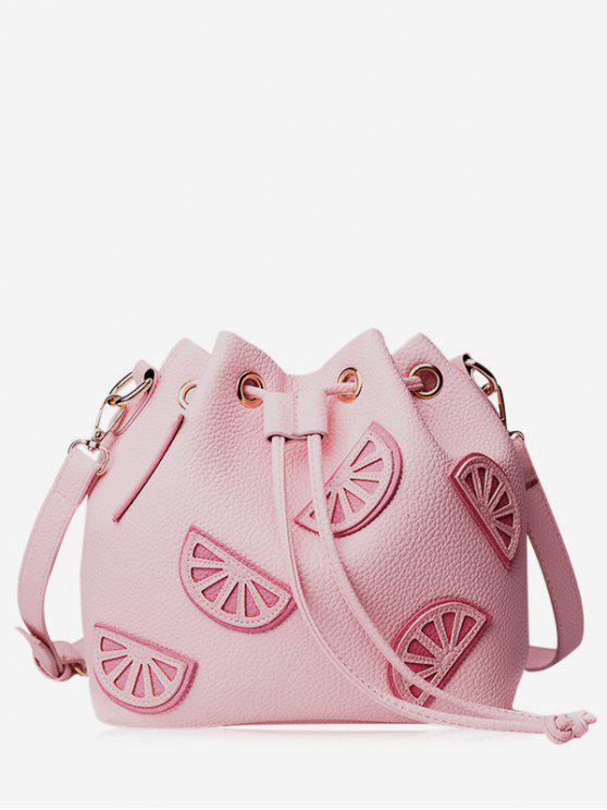 Sac de godet à cordon de couleur - ROSE PÂLE
