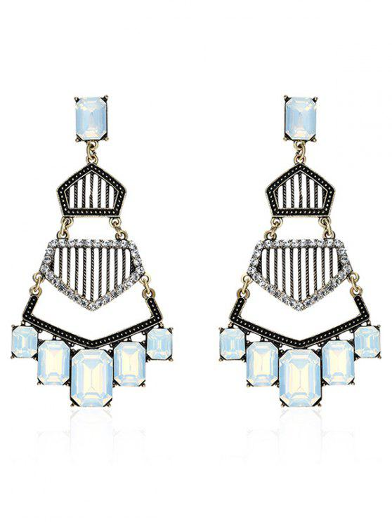 sale Rhinestone Vintage Geometric Dangle Earrings - GOLDEN