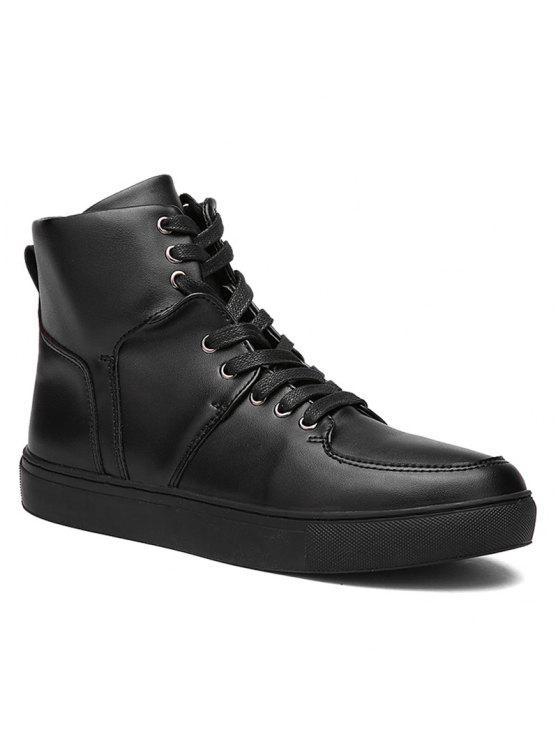 الدانتيل يصل أعلى أحذية رياضية - أسود 44